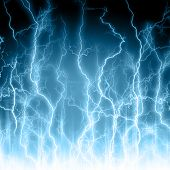 Abstract light blue background. Lightning