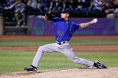 CENTRAL ISLIP-JULY 21: Sugar Land Skeeters pitcher Scott Kazmir (20) pitches against the Long Island