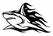 Danger Shark Tattoo