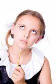 Puzzled Schoolgirl