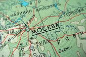 Cyrillic Map - Moscow