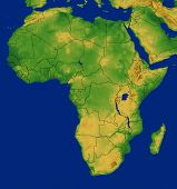 Africa Map With Terrain