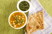 Chana Masala With Paratha