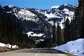 July Snow Mountain Washington Pass North Cascades National Park Pacific Northwest