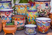 Mexican Pots And Decorations Old San Diego Town California