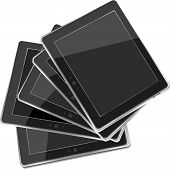 Vector Tablets Pc ipad Isolated On White Background