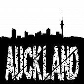 Grunge Auckland With Skyline