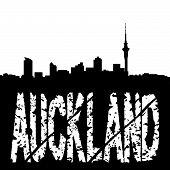 Grunge Auckland mit skyline