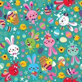 Easter bunnies pattern