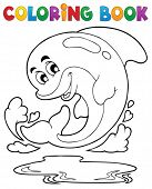 Coloring book dolphin theme 2 - eps10 vector illustration.