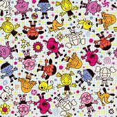 Happy kids pattern
