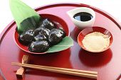 warabimochi, pudding made from bracken starch, traditonal japanese confectionery