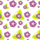 Illustration of a background with violet flowers on a white background