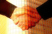 pic of premises  - handshake closeup on the glass building background - JPG