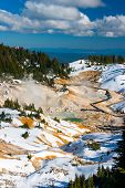 Bumpass Hell Volcanic Area In Lassen Volcanic Park, California.
