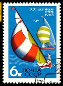 Vintage  Postage Stamp.  Baltic Regatta.