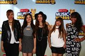 LOS ANGELES - APR 27:  Fifth Harmony arrives at the Radio Disney Music Awards 2013 at the Nokia Thea