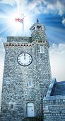 Clock Tower In Dover.