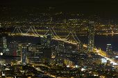 San Francisco-Oakland Bay Bridge bei Nacht