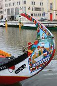 Fishing Boats In Aveiro Canal, Portugal