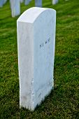 White Marble Headstone Or Gravestone