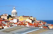 Classic Panorama Of Lisbon, Portugal
