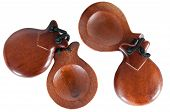 image of castanets  - Two pair castanets on a white background - JPG