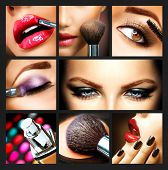Make-up Collage. Professionele Make-up Details. Makeover