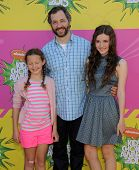 LOS ANGELES - MARCH 23:  Judd Apatow, Maude and Iris arrives to the Kid's Choice Awards 2013  on March 23, 2013 in Los Angeles, CA.