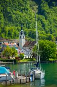 Mooring On The Lake Lucerne