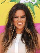 LOS ANGELES - APR 23:  Khloe Kardashian arrives to the Kid's Choice Awards 2013  on April 23, 2013 i