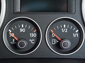 Temperature And Fuel Gauge