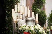 Religion, death and dolor - urn funeral and cemetery