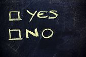 Doubts: Choice Between Yes Or No