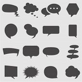 Speech bubbles icons  set.Vector