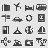Travel icons set.Vector