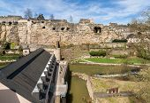 Ruined Fortifications Of Luxembourg City