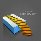 Happy Fathers Day background with necktie.