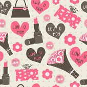 Seamless Patterns for Mothers Day celebration.
