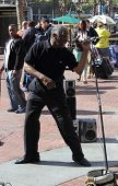 A street performer