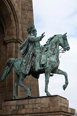 Statue Of Kaiser Wilhelm On Horseback