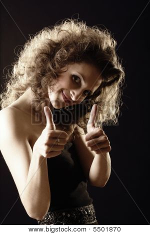 poster of Fluffy Girl Thumbs Up