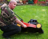 Man Lawn Clean