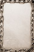 chain on metal   background texture