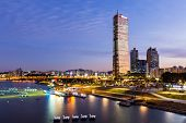 stock photo of seoul south korea  - Seoul at night - JPG