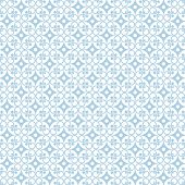 Seamless pattern of dots and floral