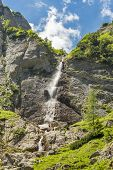 Caraiman Falls In Bucegi Mountains, Romania