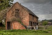 stock photo of english ivy  - Ruined brick stable at Mickleton - JPG
