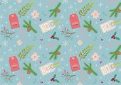 Seamless pattern for holiday design