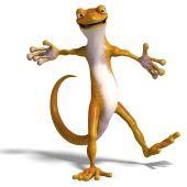 Grappige Toon Gecko